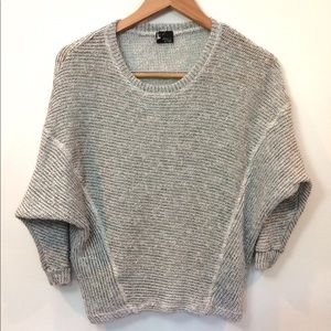 Sparkle fade gray batwing pullover Cropped sweater